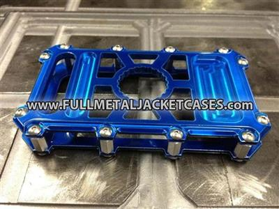 FMJ Case Iphone 4/ 4S Blauw / Anodized blue