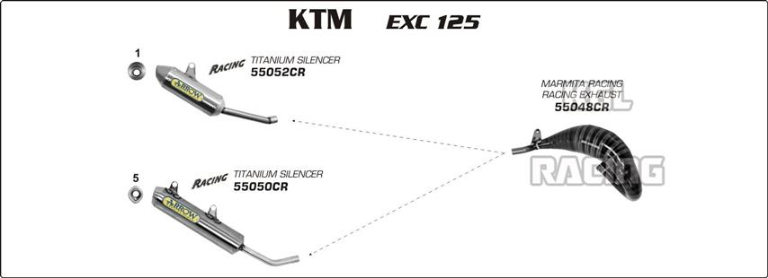 arrow for ktm exc 125 2008 2012 all road 2t exhaust 55048cr rh kglracing com
