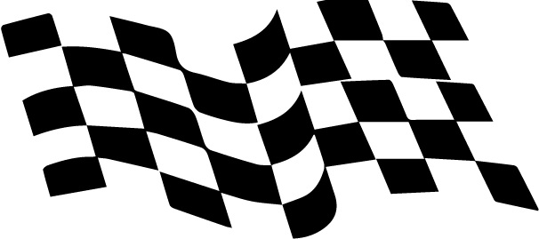 FINISH FLAG sticker