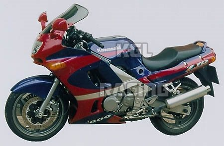 MRA Screens Screen For Kawasaki ZZR 600 1998 2004 Touring Blue
