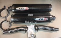 IXIL silencers DUCATI 750/900 SS '99-'02 - ROUND CARBON (pair) - PROMO