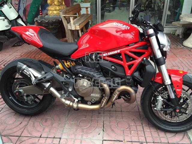 Kgl Racing Silencer Ducati Monster 821 1200 S 14 Double Fire