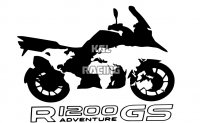 BMW R1200GS WORLDMAP koffers sticker 30 cm (set links-rechts)