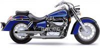 COBRA UITLAAT HONDA Aero 750 '04-07 / VT750C Shadow - FULL SYSTEM DRAG PIPES