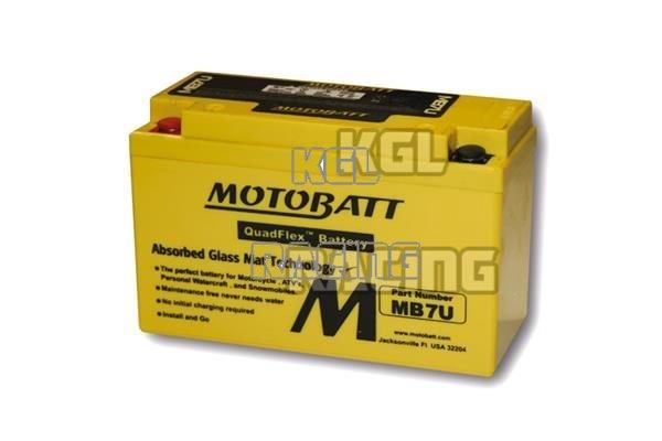 Battery for Yamaha YFZ 450 (AJ11W) 2003 -> 2007 - MOTOBATT battery MB7U