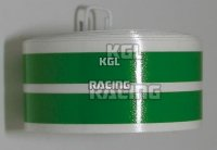 Wheel stripes (Kawasaki) green, Pair
