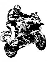 BMW R1200GS In action JUMP muur sticker - BIG 60 x 50 cm