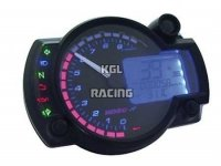 KOSO Race dashbord - Model: RX2N Black/Blue 10.000 T