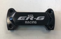 Handlebar clamp for Kawasaki ER-6 '09-'11 - black with ER6 logo