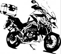 Triumph Tiger Explorer 1200 wall decal - BIG 55 x 48 cm