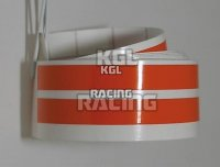 Wheel stripes, (KTM) orange, Pair