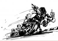 Woefie-Art wall decal - MULTISTRADA - BIG 70 x 50 cm