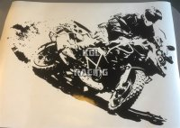 BMW R1200GS In action muur sticker - BIG 77 x 55 cm