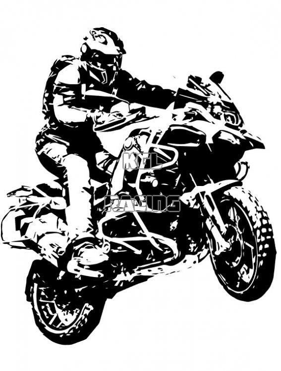 Bmw R1200gs In Action Jump Wall Decal