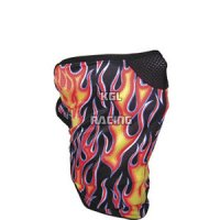 SCHAMPA FACE MASK FLAMES BLACK/RED