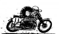 Woefie-Art wall decal - CAFE RACER - BIG 100 x 55 cm