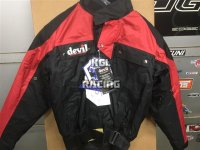 New Devil Medium weight waterproof Motorbike Jacket - Size medium
