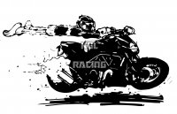 Woefie-Art wall decal - DIAVEL - BIG 95 x 50 cm