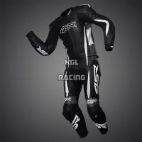 Leather two pieces race suit -4SR RR Evo II Gun Metal