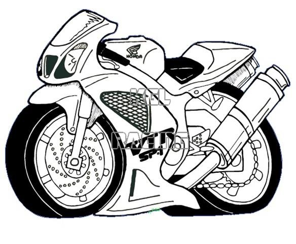Honda Vtr Sp1 Cartoon Sticker 24 Cm Long