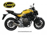 LASER X-Treme System complet mufflerset GP-style D70 YAMAHA MT07 2014->> - INOX
