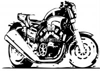 YAMAHA VMAX 1200 cartoon wall decal - BIG 55 x 40 cm