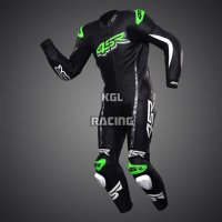 Leather Racesuit - 4SR Racing Monster Green