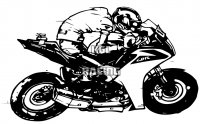 Woefie-Art wall decal - CBR racer - BIG 82 x 50 cm