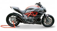 HP Corse silencers Ducati Diavel - Hydroform 1 in 2 Black - PROMO !