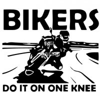 BIKERS DO IT ON ONE KNEE sticker