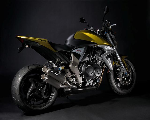 Bodis Slip-on Honda CB1000R '08-'12 GPX2 RVS Black